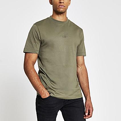 Khaki Prolific short sleeve oversized t-shirt