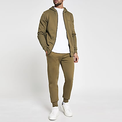 Khaki 'Prolific' slim fit joggers