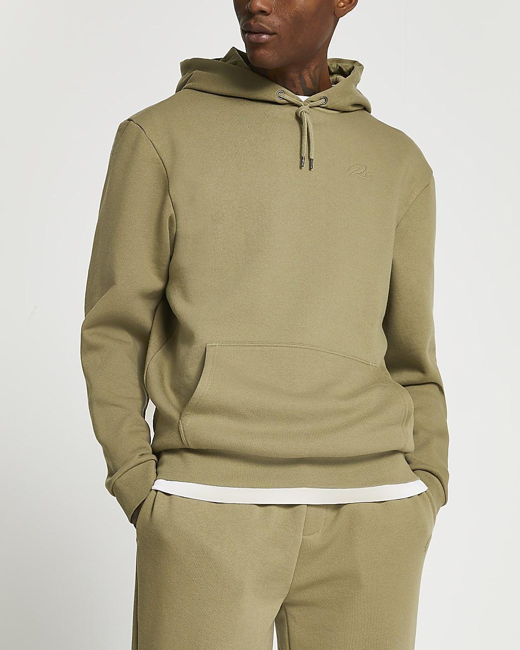 Khaki RI branded hoodie
