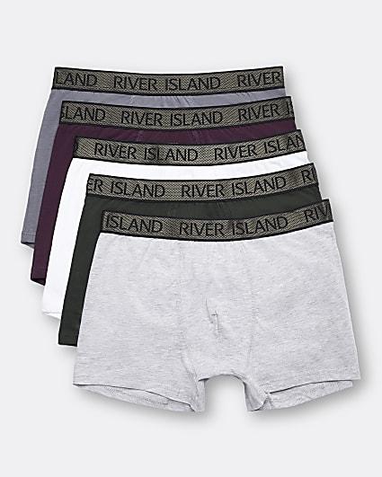Khaki RI branded trunks 5 pack