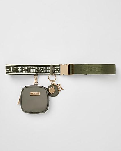 Khaki RI branded utility belt