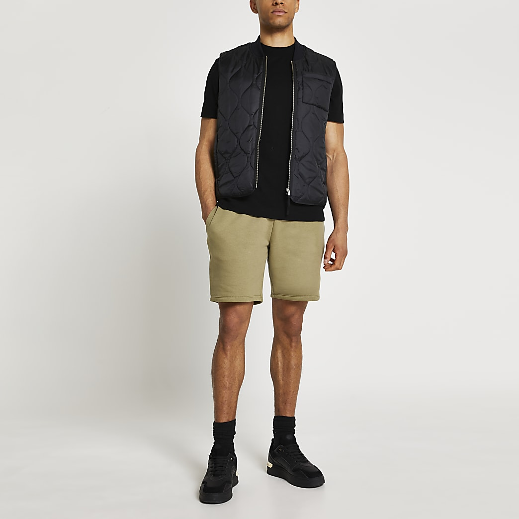 Khaki RI slim fit shorts
