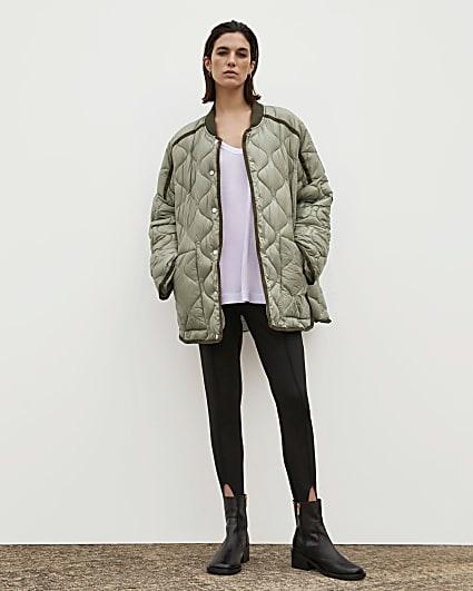 Khaki RI Studio Quilted Jacket