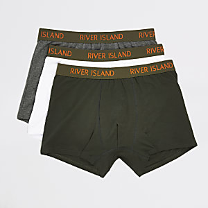 Khaki RI waistband trunks 3 pack