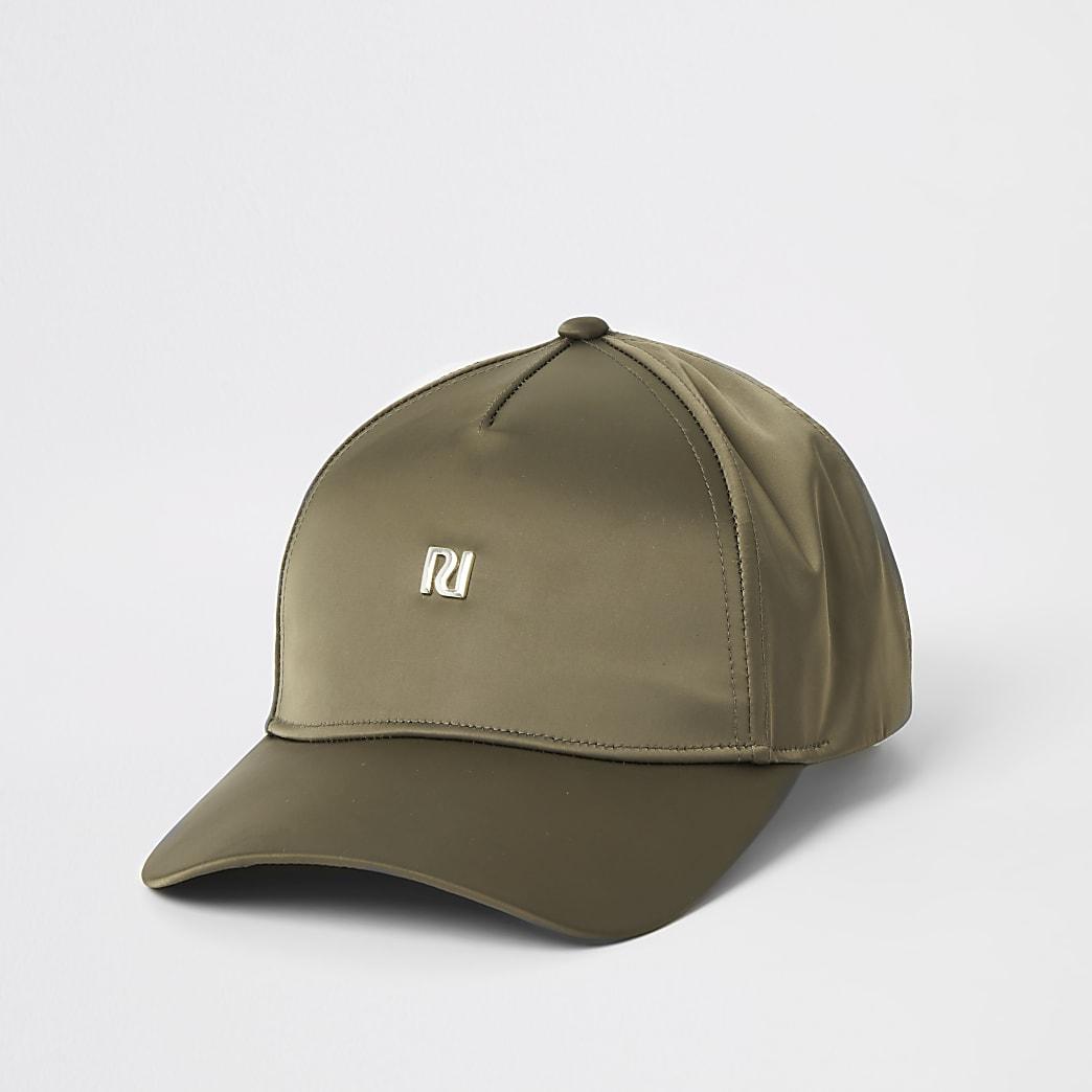Khaki satin RI hat