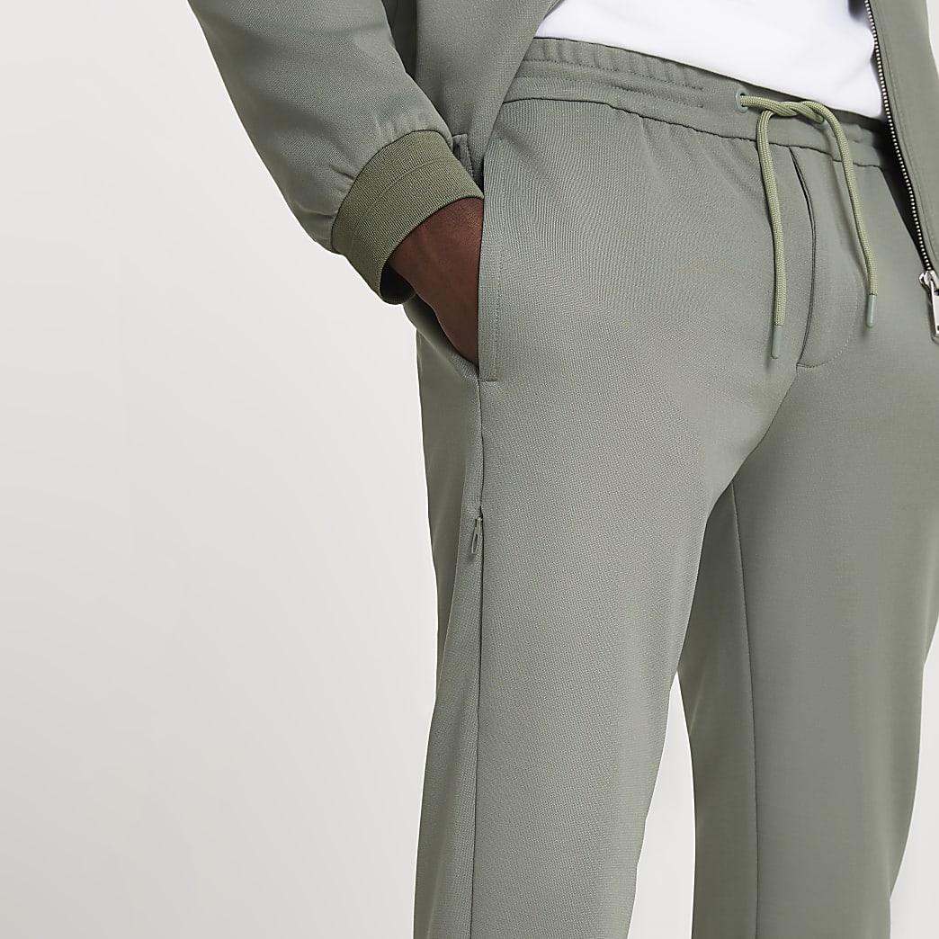 Khaki skinny fit joggers