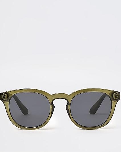 Khaki square shaped frame sunglasses