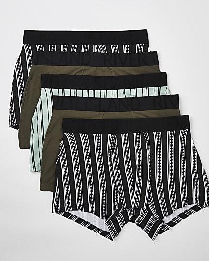 Khaki stripe trunks 5 pack