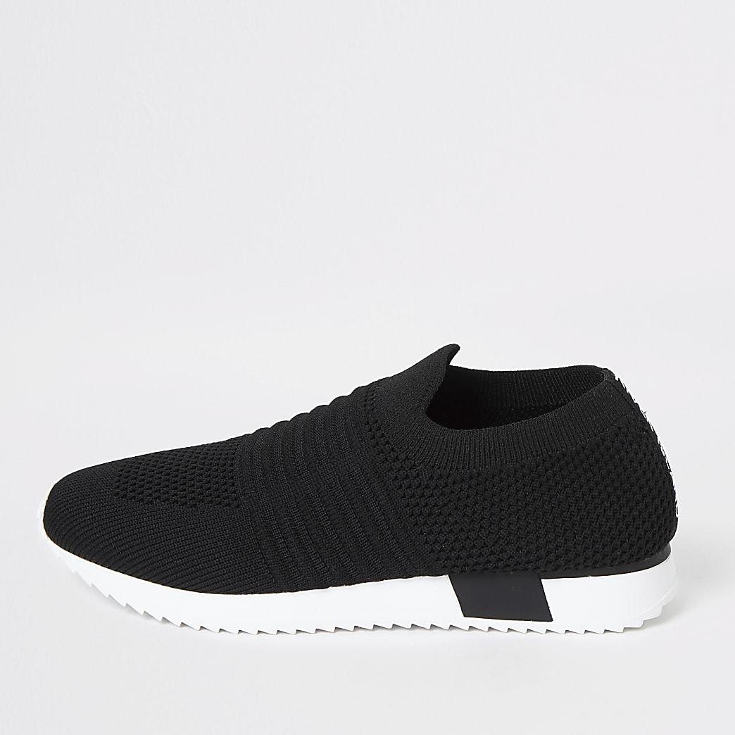 Zwarte gebreide sneakers voor kinderen