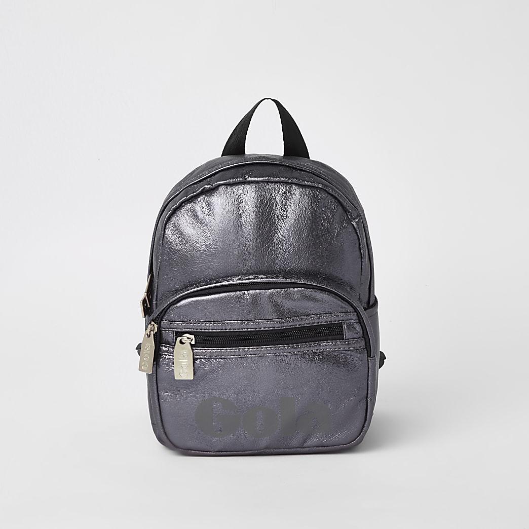Kids metallic purple Gola backpack