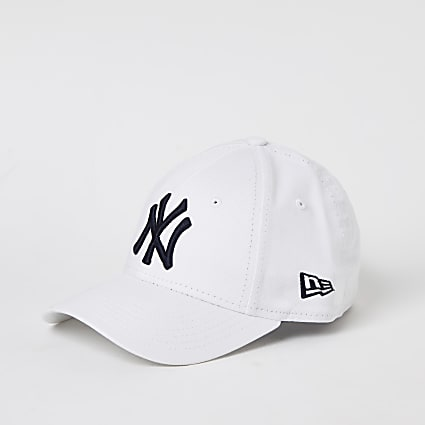 Kids New Era white NY curved peak hat