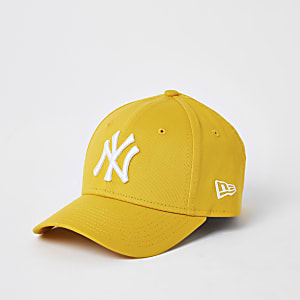 New Era– NY-Kinderkappe in Gelb mit gebogenem Schirm