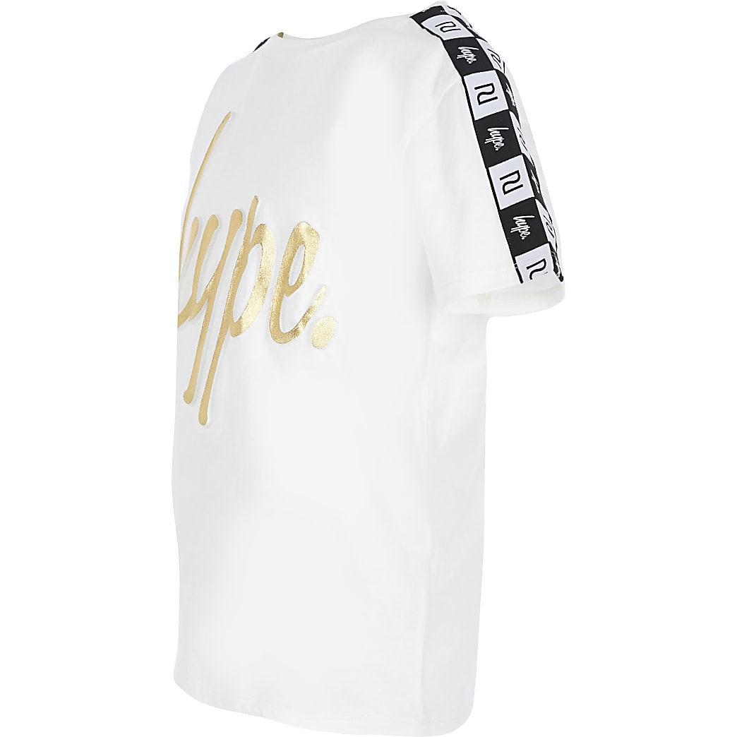 Kids RI x Hype white tape embossed T-shirt