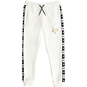RI x Hype – Weiße Jogginghose mit Tape