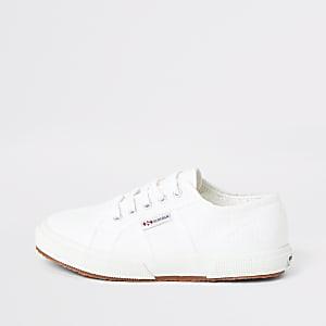 Superga – Tennis blancs à lacets pour enfant
