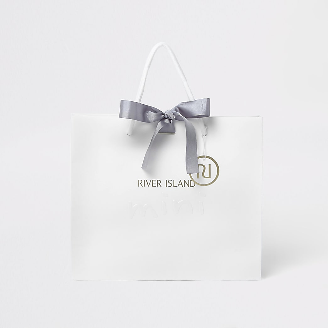 Kids white RI mini gift bag