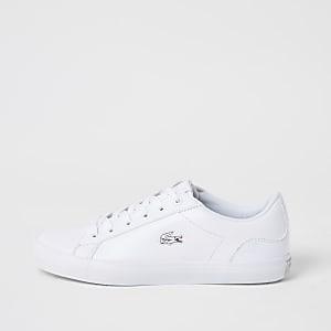 Lacoste - Leren Lerond-sneakers met vetersluiting