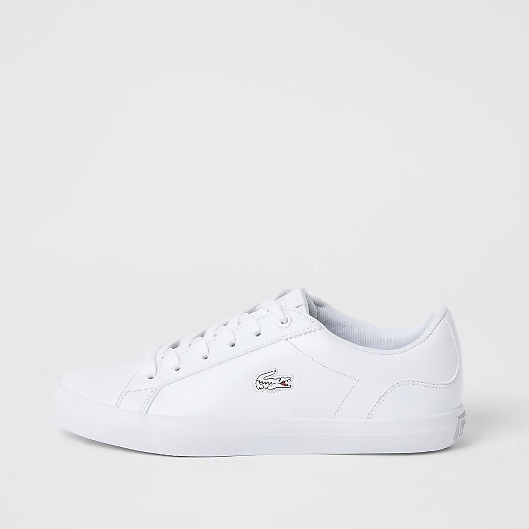 Lacoste leather Lerond lace-up trainers