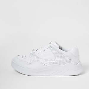 Lacoste white leather Court Slam trainers