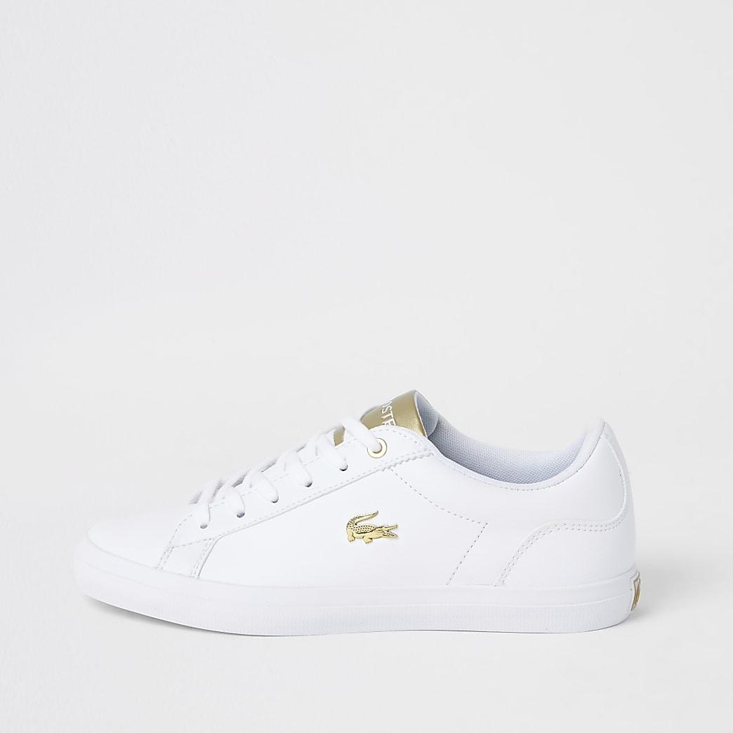 Lacoste – Baskets avec logoLerond en cuir blanc