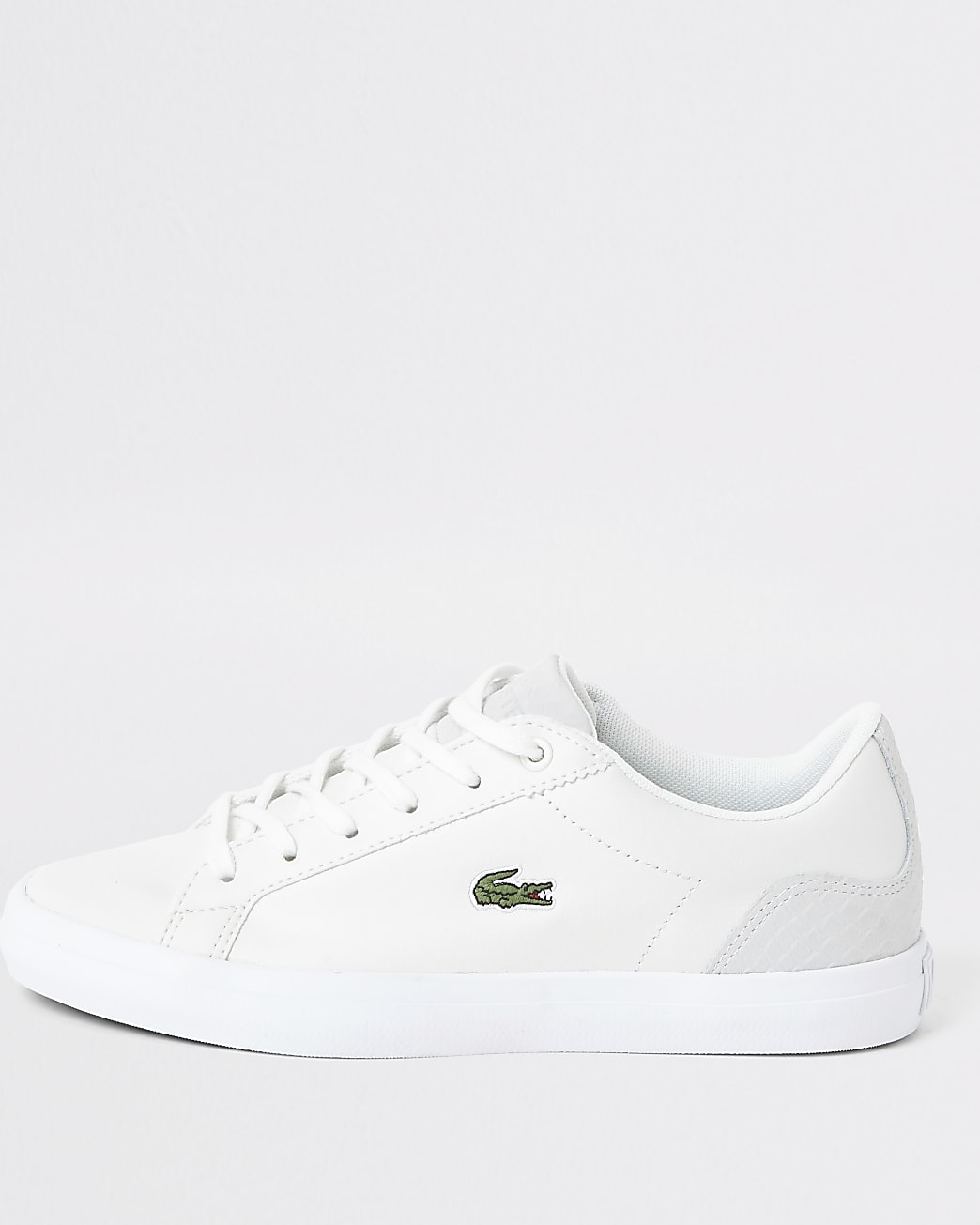 Lacoste white leather logo trainers