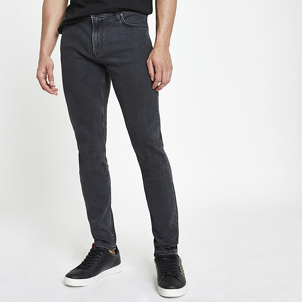 Lee – Malone – Jean skinny délavage gris