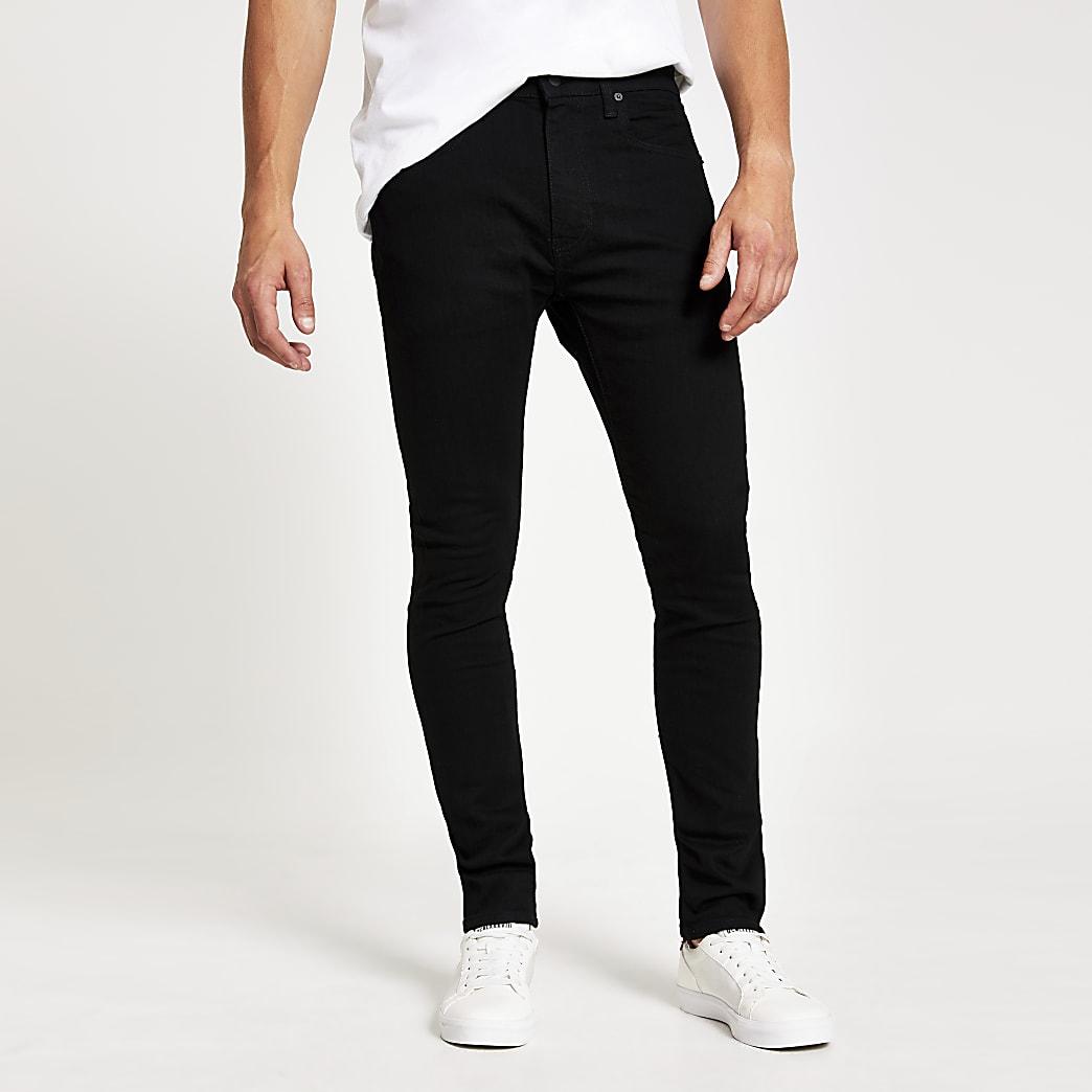 Levi's 519 - Zwarte extreem slim-fit jeans