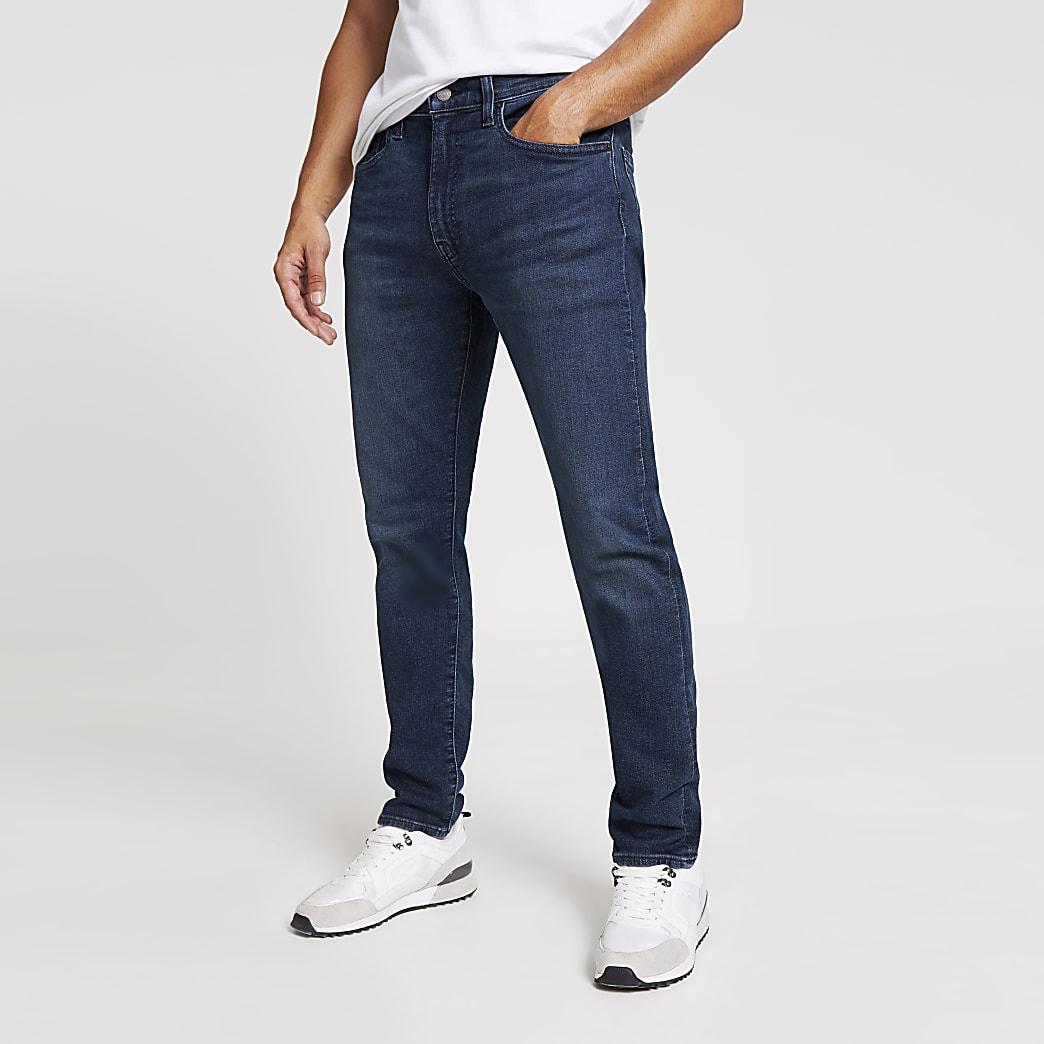 Levi's - Donkerblauwe 512 slim-fit denim jeans