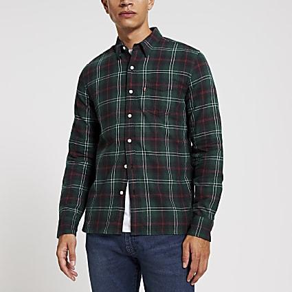 Levi's green check long sleeve shirt
