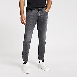 Levi's - Grijze 512 slim-fit smaltoelopende denim jeans
