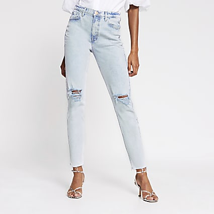 Light blue Brooke high rise slim jean
