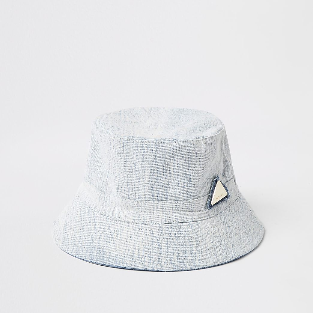 Light blue denim bucket hat