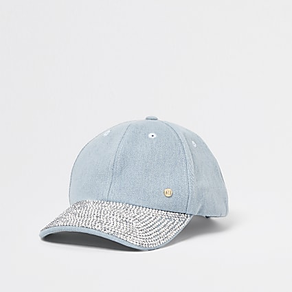 Light Blue denim peak cap