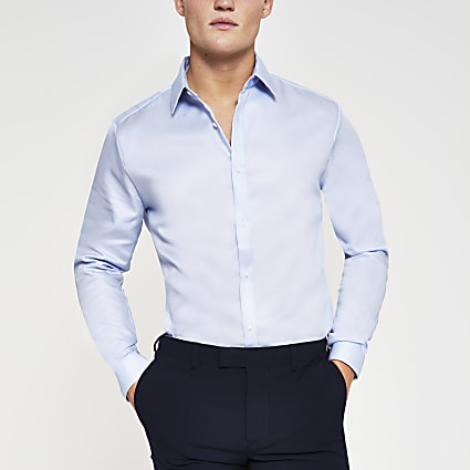 Light blue Egyptian cotton slim fit Shirt