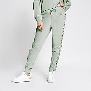 Pantalon de jogging RI bleu clair avec volants sur lescôtés