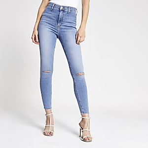 Light blue Kaia high rise disco jeans