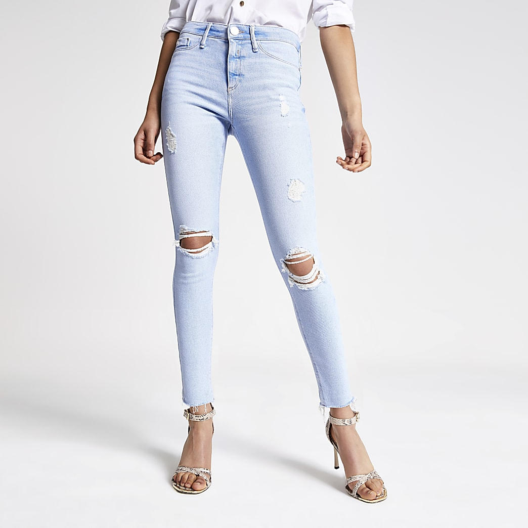 Light blue Rl Molly mid rise jeggings