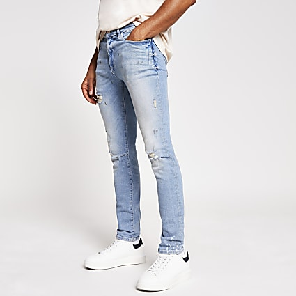 Light blue Sid skinny ripped jeans