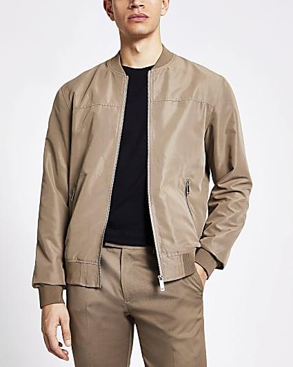 Light brown bomber jacket