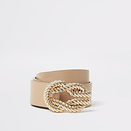 Light brown rope buckle belt