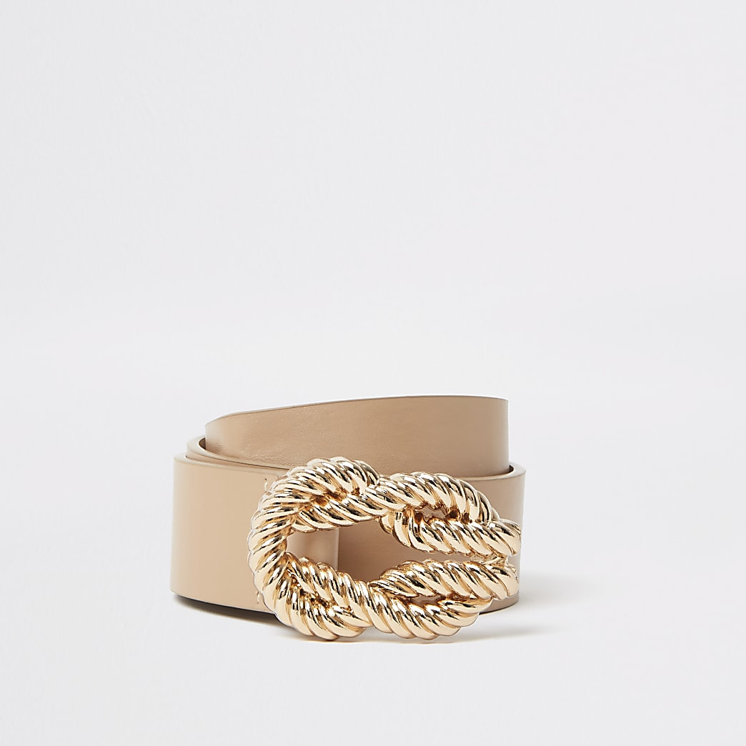 Light brown rope buckle belt
