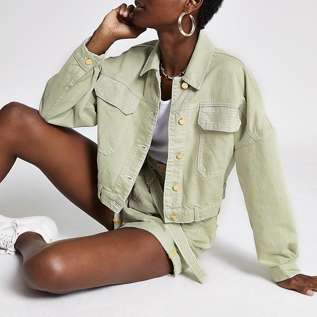 Light green denim jacket