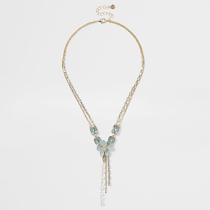Light green floral necklace