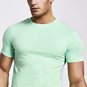T-shirt ajusté vert clair