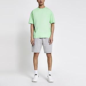 Hellgrünes Oversized-T-Shirt