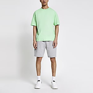 Lichtgroen oversized T-shirt