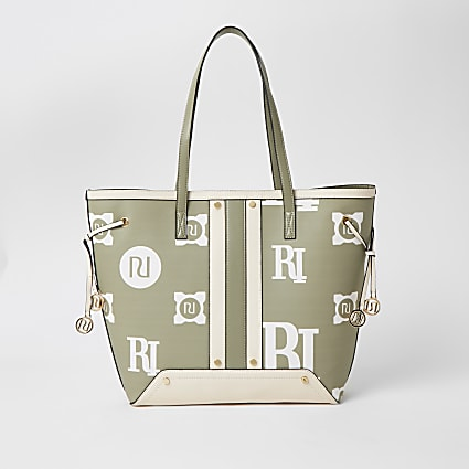 Light green RI printed shopper bag