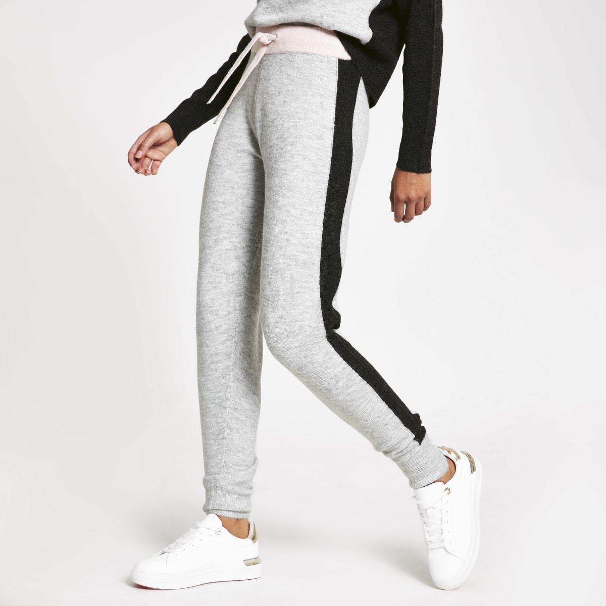 Joggingconfortcolour block gris clair