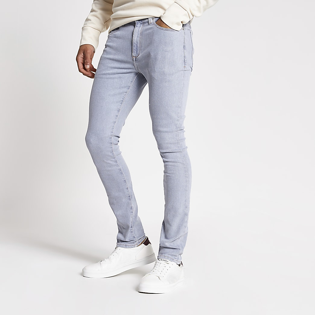 Light grey Danny super skinny jeans