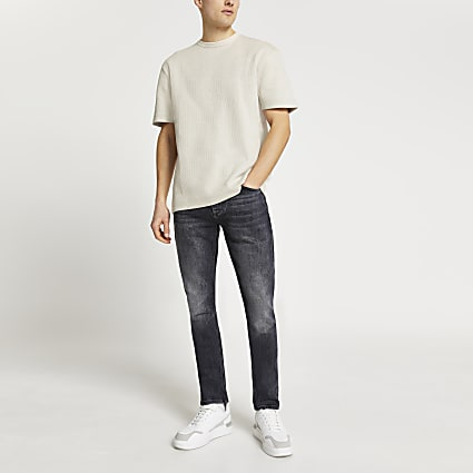 Light grey ribbed t-shirt